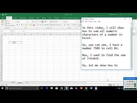 Sum all numeric characters of a number in Excel