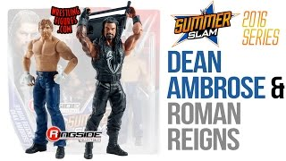 "WWE FIGURE INSIDER: Roman Reigns & Dean Ambrose - WWE Battle Packs ""SummerSlam 2016"" From Mattel"