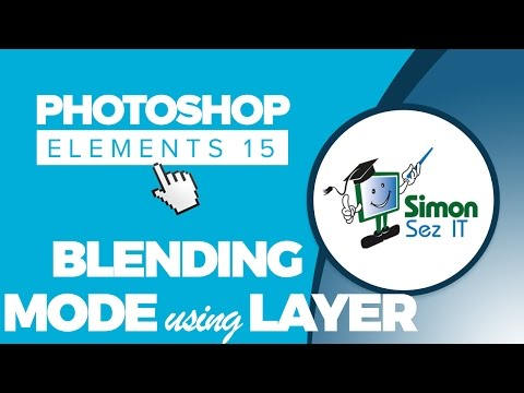 How to Use Blending Mode Using Layers in Adobe Photoshop Elements 15 - Part 5