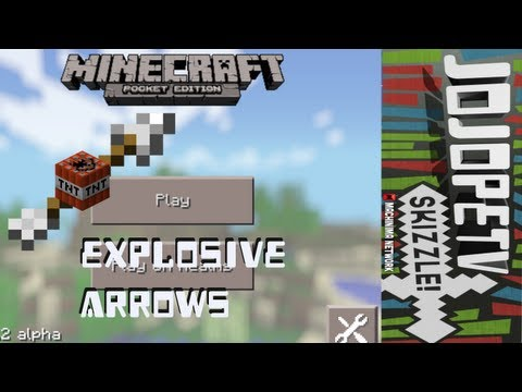 Minecraft Pocket Edition 0.7.2 Mod Spotlight - Exploding Arrows iOS/Android
