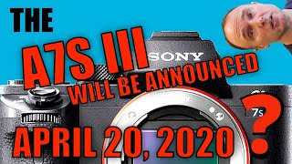 SONY to announce a7S III on April 20