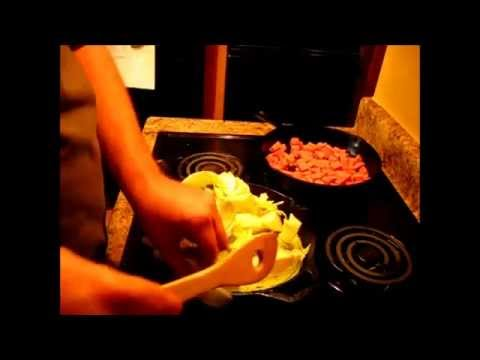 Fried Cabbage with Spam/ Cheap Dinner