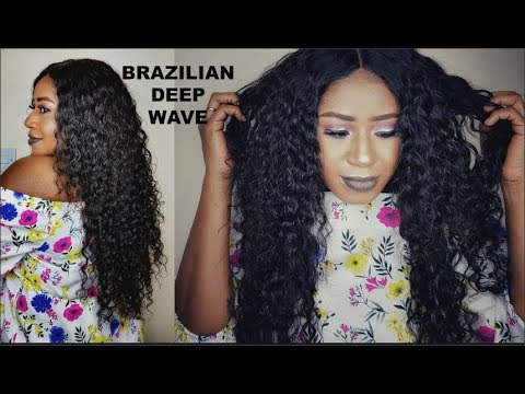 WASH AND GO?? DEEP WAVE CURLS     MAKE IT POP   ft Beauty forever hair