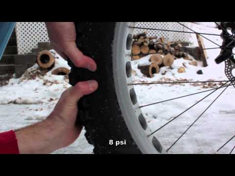 Fat Bike Tyre Pressures - 14, 12, 10, 8, 6, 4, and 2 psi