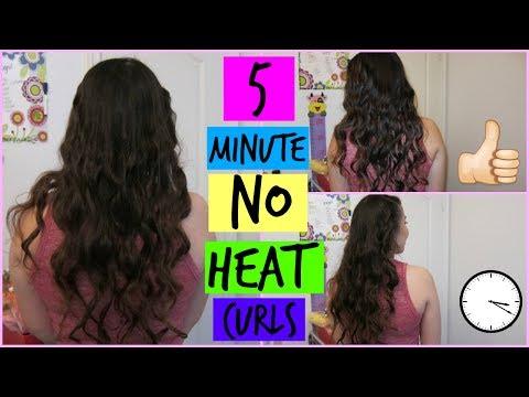 5 MINUTE NO HEAT CURLS USING ONLY HAIR TIES?!