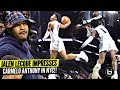 Jalen Lecque Jumps OVER Player W Carmelo Anthony Watching Brewster Shows OUT In NYC