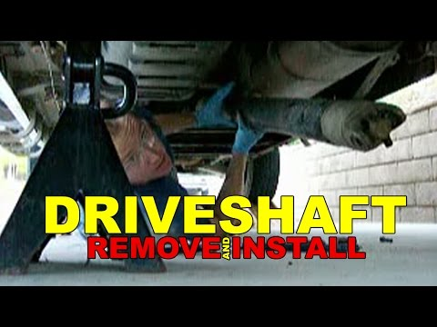 Driveshaft REMOVE and INSTALL how to