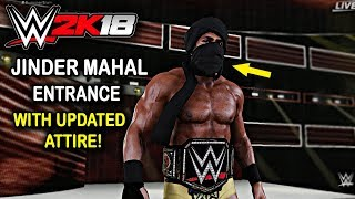 WWE 2K18 - Jinder Mahal Entrance with New Updated Attire & Face Mask ( Official )