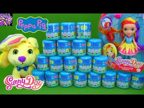Peppa Pig Toys Sunny Day Nick Jr Doll Toys Squishy Mashems Series 2 Doodle Surprise Toy Kids Video