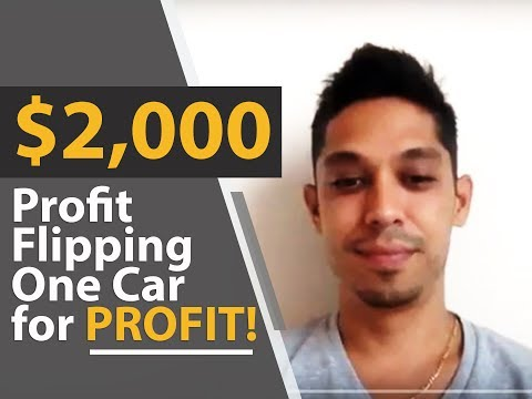 How To Easily Make $2,000 Flipping One Car for Profit!