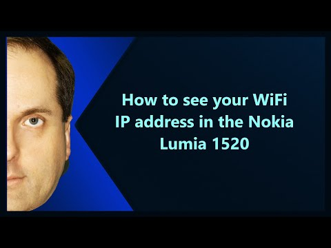 How to see your WiFi IP address in the Nokia Lumia 1520