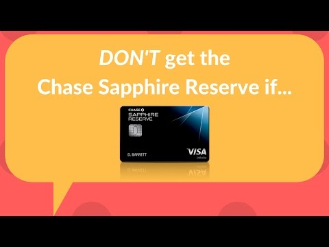 Reasons NOT to get the Chase Sapphire Reserve: benefits, min spend, and breakeven