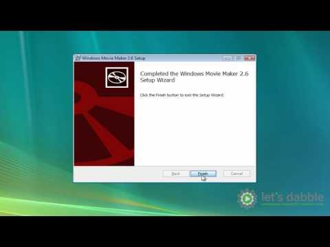 How to install Windows Movie Maker and Windows Vista updates