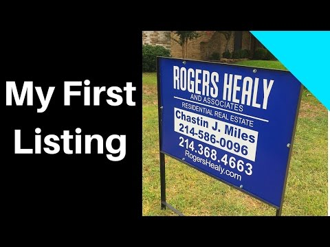 How I Got My First Listing In Real Estate