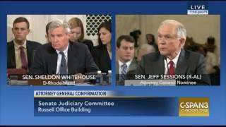 Sen Jeff Sessions Strongly Reminds Sen Sheldon Whitehouse We NOT a DEMOCRACY