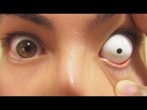 How to: Insert And Remove White Sclera Contact Lenses (Fxeyes)