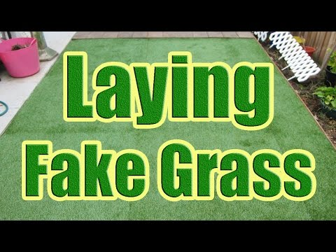 How to Install Fake Grass - How to Lay Synthetic Grass - Laying Artificial Turf