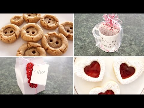 DIY Valentine's Gifts! (Button cookies, Linzer cookies, & more)