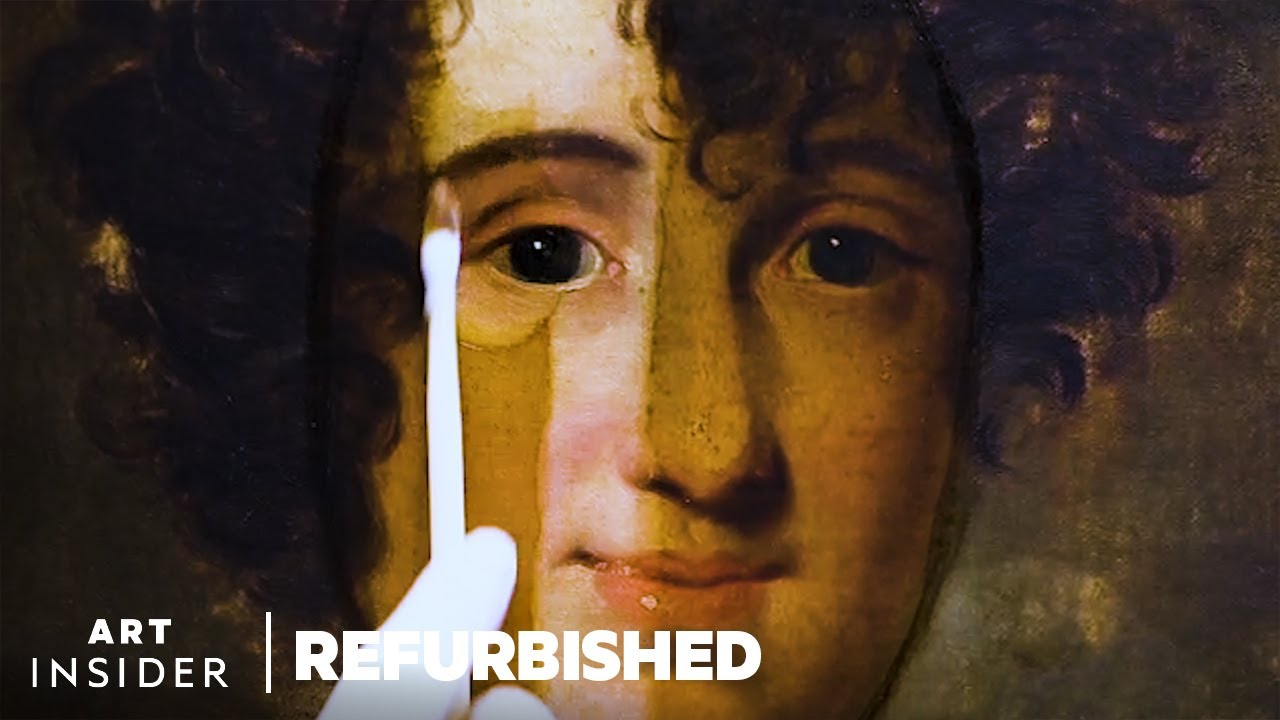 How Old Paintings Are Professionally Restored   Refurbished