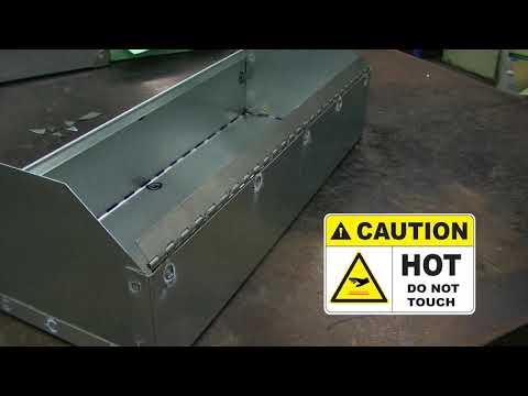 Toolbox Hinge Installation