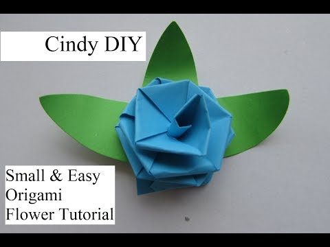Little Flower with 2 strip | Easy Paper craft Quick & Beautiful | Cindy DIY