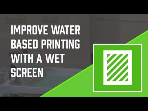 Water Based Screen Printing Tips - Wet Your Screen Before Adding Ink