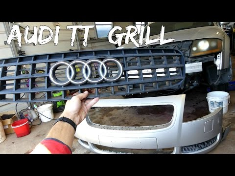 AUDI TT FRONT GRILL BUMPER GRILLE REMOVAL REPLACEMENT