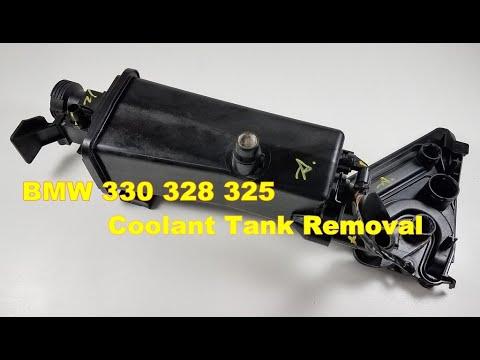 BMW E46 330 325 Coolant Expansion Tank Reservoir Removal