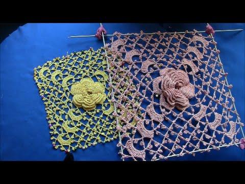Irish Crochet Basics, a Roses Square