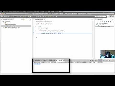 Java with Eclipse Juno Part 2: Hello World