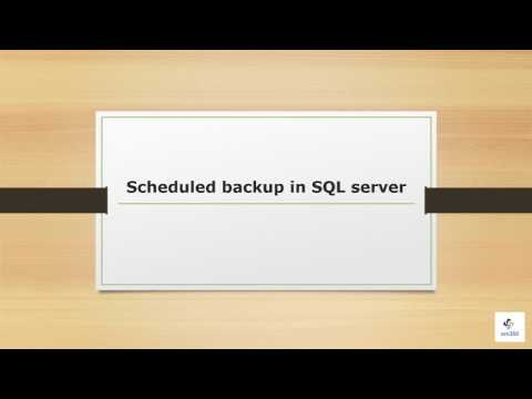 Schedule backup in SQL server