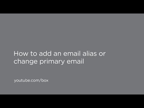 How to add an email alias or change a primary email