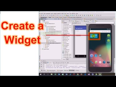 Android Studio #21: Create a Widget (Home Screen and LockScreen up 4.4)
