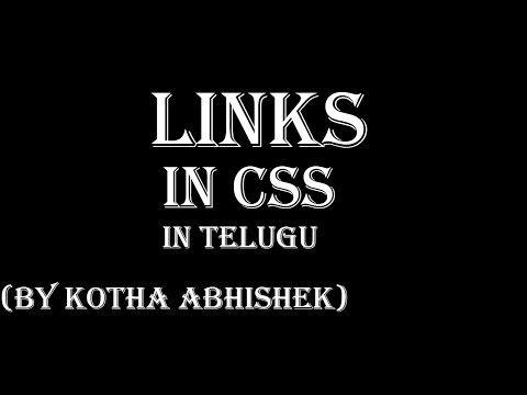 how to change link colors in css in telugu