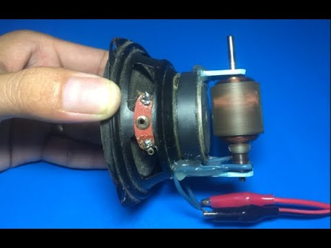Experiment high speed DC motor with speaker