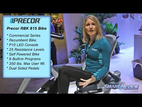 Precor Commercial Exercise Bikes Demo | RBK 815 Recumbent | UBK 885 Upright | 2014