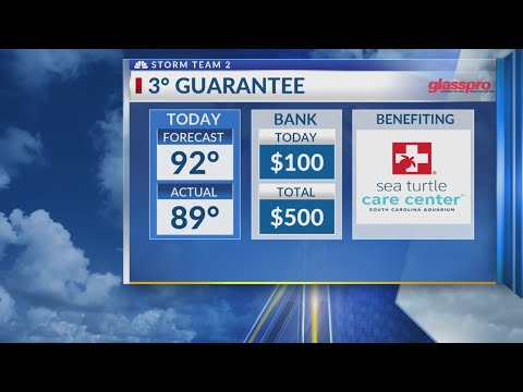 3 Degree Guarantee for Wednesday, June 6th