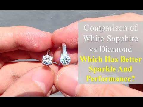 White Sapphire Vs Diamond - Side by Side Comparison