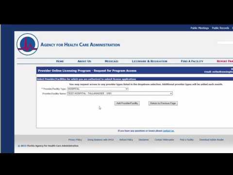 Online Licensing Registration