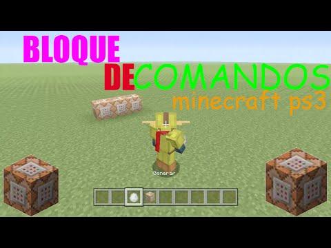 BLOQUE DE COMANDOS MINECRAFT PS3,PS4,XBOX