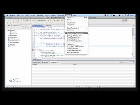 Using the XML Tools in Eclipse