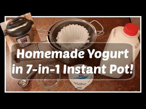 INSTANT POT:  Homemade Plain (Greek) Yogurt
