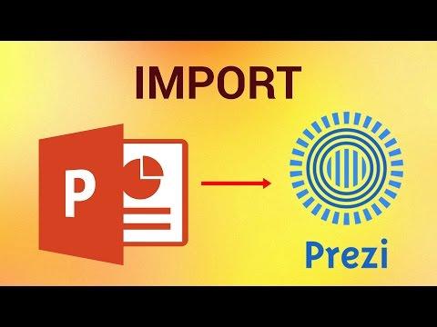 How to Import Powerpoint Presentation to Prezi
