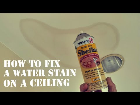 How to fix a water stain on a ceiling
