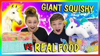 Download GIANT SQUISHY VS REAL FOOD SWITCH UP | We Are The Davises Video