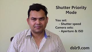 Shutter Priority Mode in DSLR Camera (Hindi)