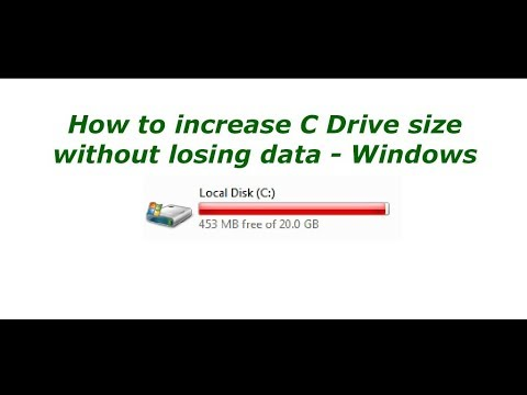 Expand the size of C: Drive without losing data