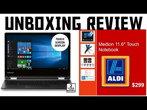 $299 ALDI Laptop Medion Touch 11.6 unboxing and review 2017