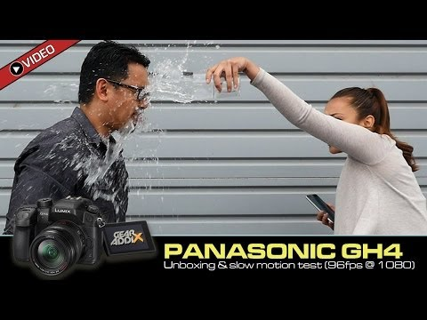 Panasonic GH4 - Unboxing and Slow Motion Test (96fps @ 1080)