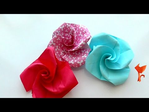 How to make a Paper Flower for 5 Minutes? Origami Rose quickly and easily